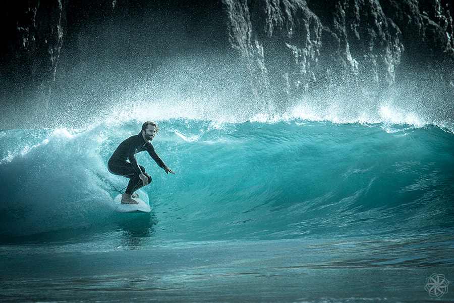Praia do Beliche, surfen, surfer, surfing, Francisco Monteiro, golven, strand, fotobewerking, intersensa
